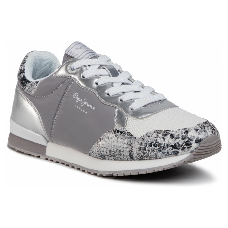 Sneakersy PEPE JEANS - Archie Fun PLS31100 Silver 934