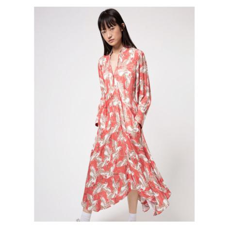 Hugo Sukienka codzienna Kaflore 50447168 Różowy Regular Fit Hugo Boss