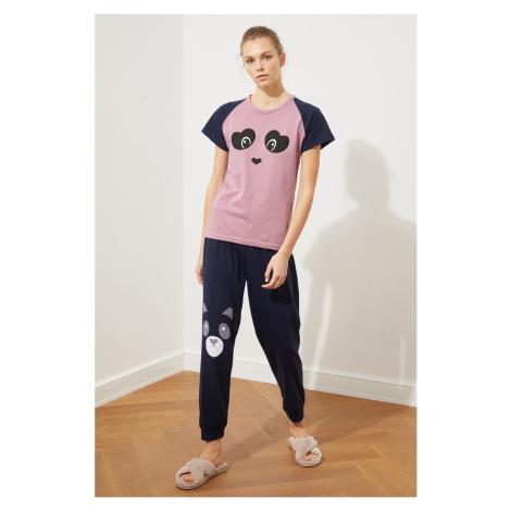 Trendyol Printed Knitted Pyjama Set
