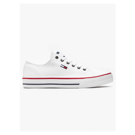 """Tommy Jeans """"Classic Long Lace Sneaker"""" White Tommy Hilfiger"""