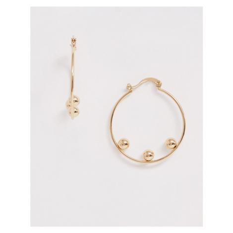 Whistles triple sphere hoop earrings