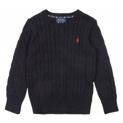 POLO RALPH LAUREN Sweter 'COMBED' granatowy