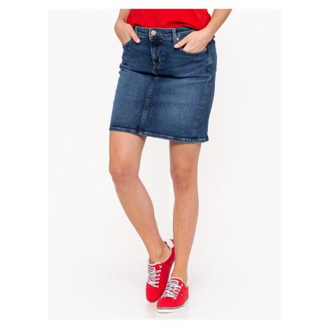 Niebieskie spódnice jeansowe