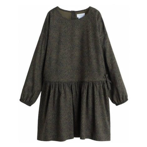 MANGO KIDS Sukienka 'Blin' khaki / czarny