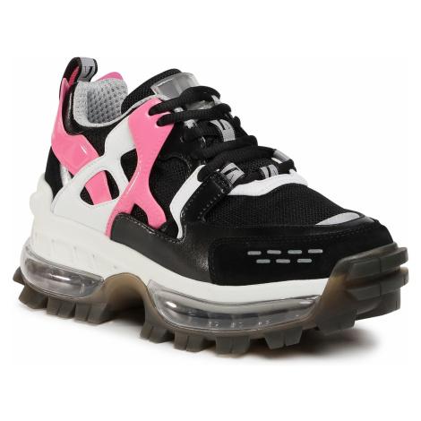 Sneakersy EMPORIO ARMANI - X3C156 XM515 N122 Blk/Blk/Camelia/Silv