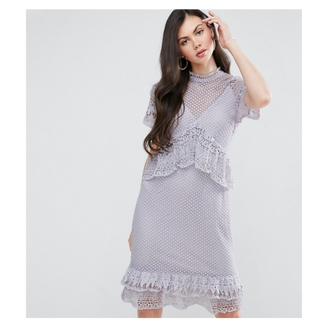 Y.A.S Studio Tall Lace Ruffle Midi Dress