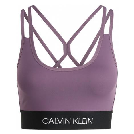 Calvin Klein Performance Biustonosz sportowy 'LOW SUPPORT BRA' czarny / fioletowy