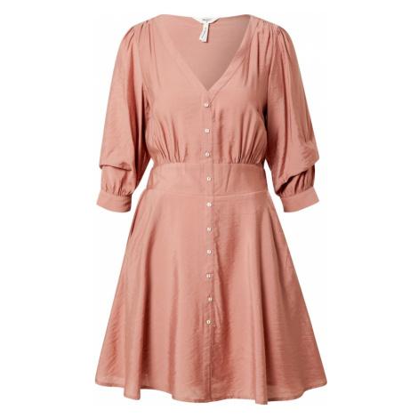 OBJECT Sukienka różowy pudrowy