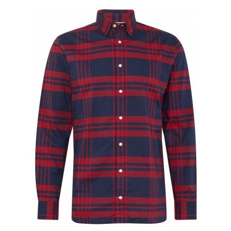 TOMMY HILFIGER Koszula 'STRIPE CHECK SHIRT' ciemny niebieski / czerwony