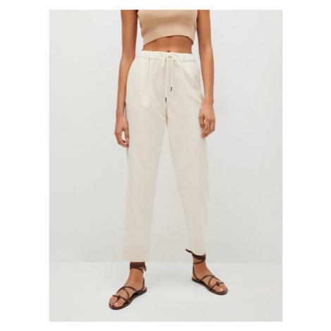 Mango Spodnie materiałowe Spring 87015656 Beżowy Regular Fit