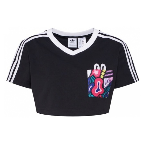 ADIDAS ORIGINALS Koszulka 'C 3 STRIPES TEE' czarny / biały