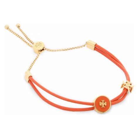 Bransoletka TORY BURCH - Kira Enamel Slider Bracelet 61683 Tory Gold/Mango 700