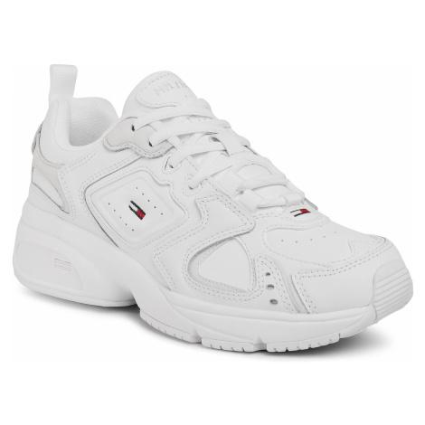 Sneakersy TOMMY JEANS - Hertage Tommy Jeans Sneaker EN0EN00947 White YBR Tommy Hilfiger