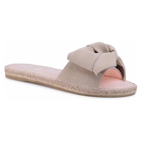 Espadryle MANEBI - Sandals With Bow K 1.1 J0 Champagne Beige