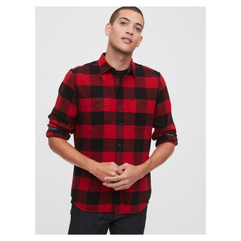 GAP czerwony w kratę męska koszula