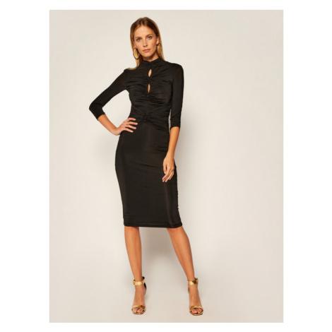 Versace Jeans Couture Sukienka koktajlowa D2HZA443 Czarny Slim Fit