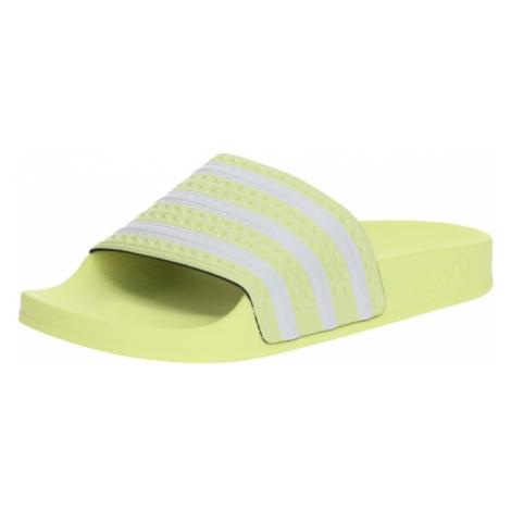ADIDAS ORIGINALS Buty na plażę/do kąpieli 'ADILETTE' żółty / biały