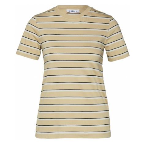 EDITED Koszulka 'Leila' beżowy / czarny / biały