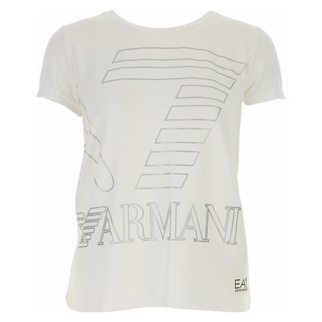 Emporio Armani Koszulka dla Kobiet Na Wyprzedaży w Dziale Outlet, biały, Bawełna, 2019