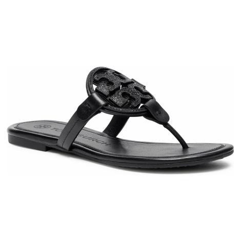 Japonki TORY BURCH - Metal Miller Embellished Sandal 79535 Perfect Black 006