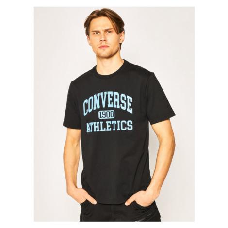 Converse T-Shirt Varsity Wordmark Tee 10019071-A01 Czarny Regular Fit
