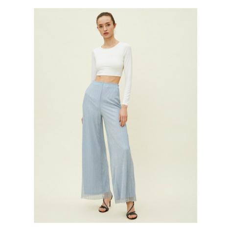 Koton Wide Leg Metallic Tiul szczegółowo spodnie