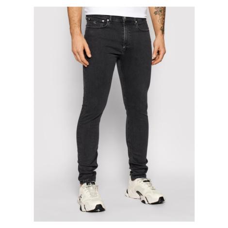 Calvin Klein Jeans Jeansy J30J315571 Szary Skinny Fit