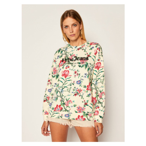 Pepe Jeans Bluza Baily PL580972 Beżowy Relaxed Fit