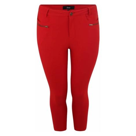 Zizzi Spodnie 'Jevalia' czerwony