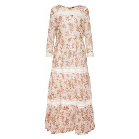 Y.A.S Sukienka 'Fiala' morelowy / biały
