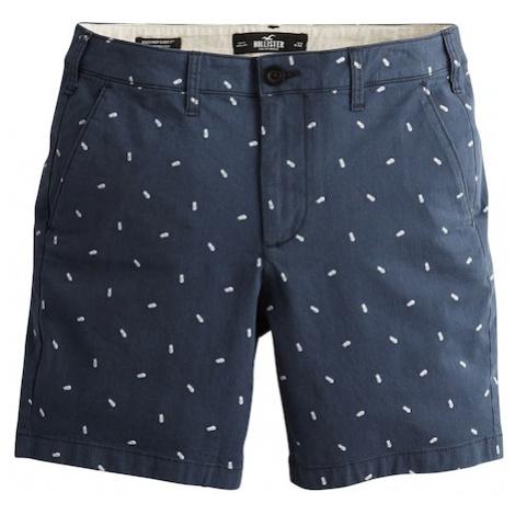 HOLLISTER Spodnie 'Pineapple' biały / granatowy