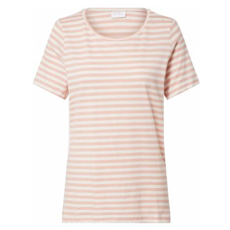 VILA Koszulka różowy pudrowy / biały