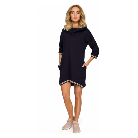Made Of Emotion Woman's Dress M401 Navy Blue