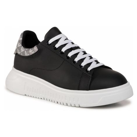 Sneakersy EMPORIO ARMANI - X3X024 XM327 N128 Black/Antr/Perla