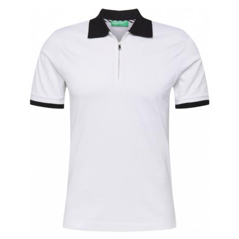 UNITED COLORS OF BENETTON Koszulka czarny / biały