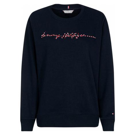 TOMMY HILFIGER Bluzka sportowa 'ANNIE' biały / ciemny niebieski / czerwony