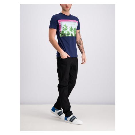 Trussardi Jeans T-Shirt 52T00202 Granatowy Regular Fit