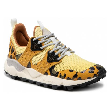 Sneakersy FLOWER MOUNTAIN - Corax Woman 0012015672.05.1G23 Yellow/Black