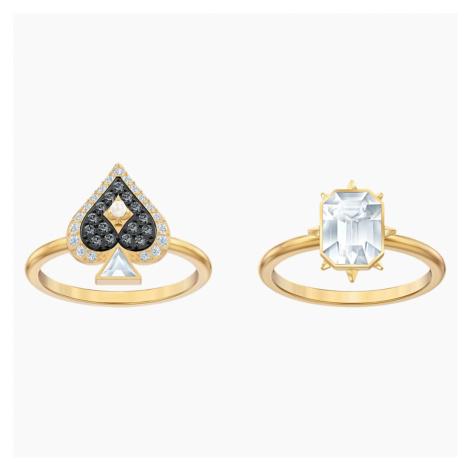 Zestaw pierścionków Tarot Magic, wielokolorowy, w odcieniu złota Swarovski