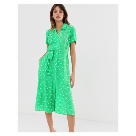 2NDDAY Limelight Anemone floral print midi shirt dress