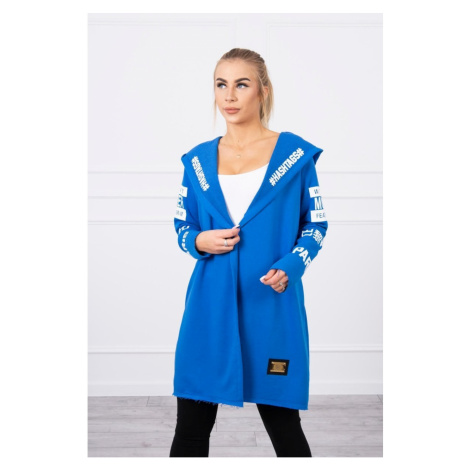 Płaszcz z napisami mauve-niebieski