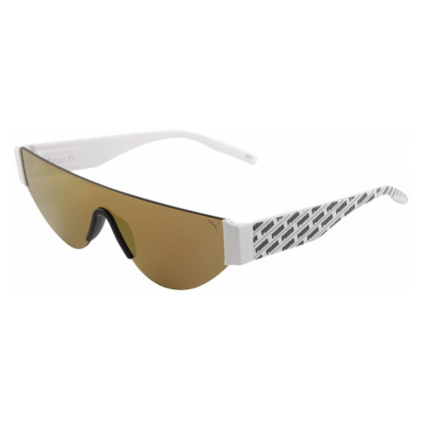 PUMA Okulary przeciwsłoneczne 'PU0288S-003 99 Sunglass WOMAN INJECTION' czarny / złoty / biały