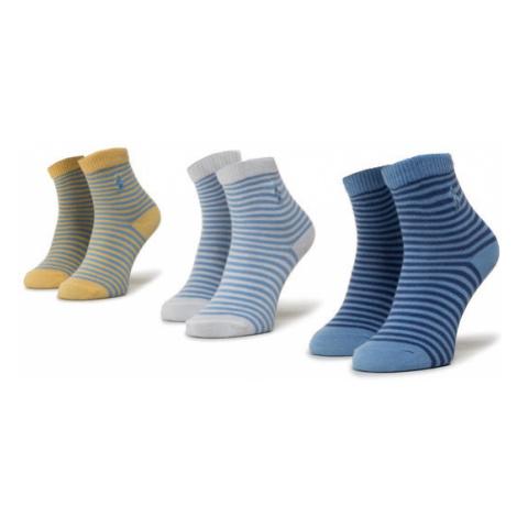Polo Ralph Lauren Zestaw 3 par wysokich skarpet dziecięcych 441799248001 Niebieski