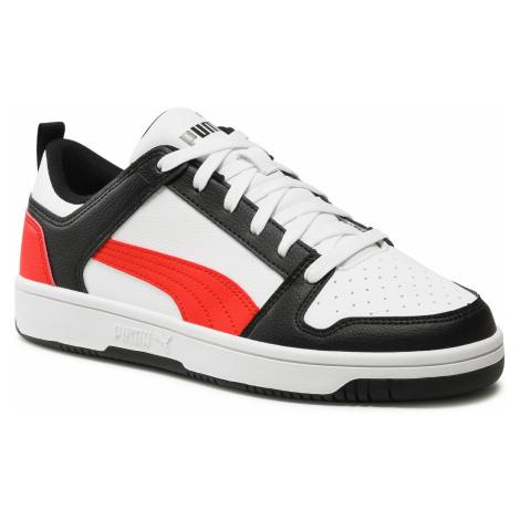 Sneakersy PUMA - Rebound Layup Lo Sl 369866 14 White/Poppy Red/Puma Black