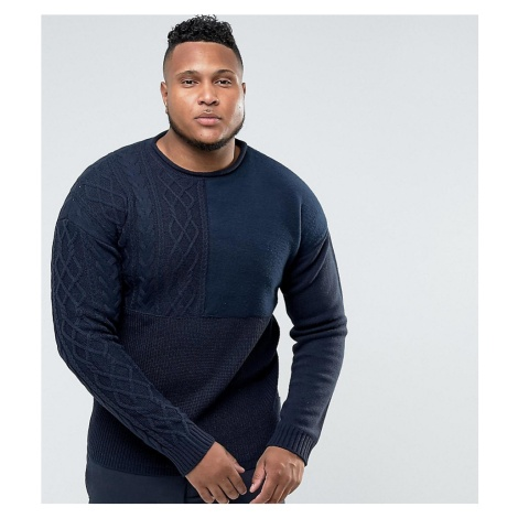 Bellfield Plus Jumper With Mixed Textures