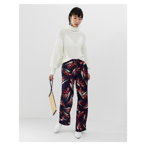 B.Young Palm Print Trousers