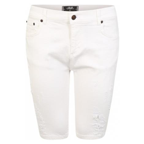 SikSilk Jeansy biały denim