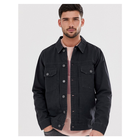 Pull&Bear denim jacket with vintage fit in grey Pull & Bear
