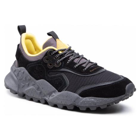Sneakersy FLOWER MOUNTAIN - Kotetsu Man 0012015731.02.1A25 Black/Yellow Fluo