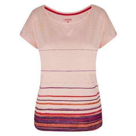 Różowa damska bluzka z krótkimi rękawami LOAP Alby